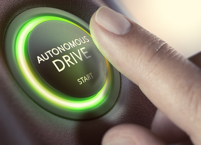 autonomous vehicles button start