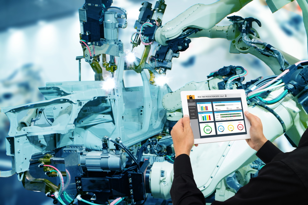 smart factory manufacturing automotive analytics data sensors robotics technology