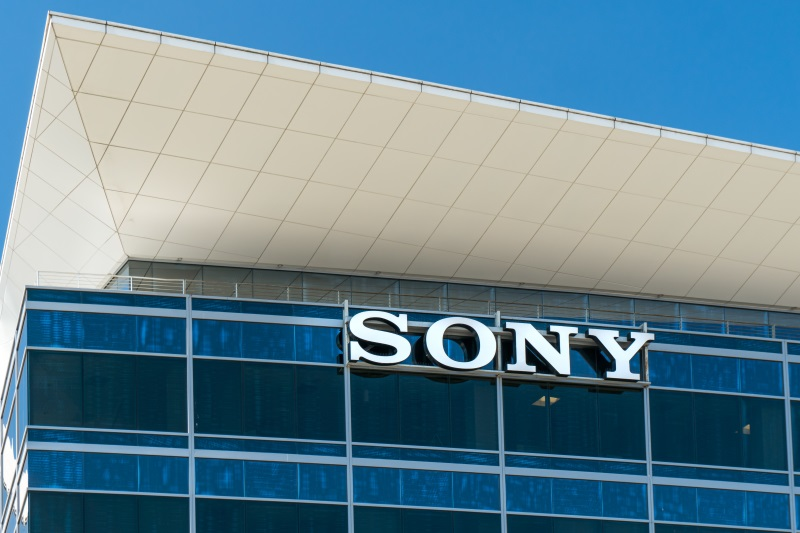 sony building and logo