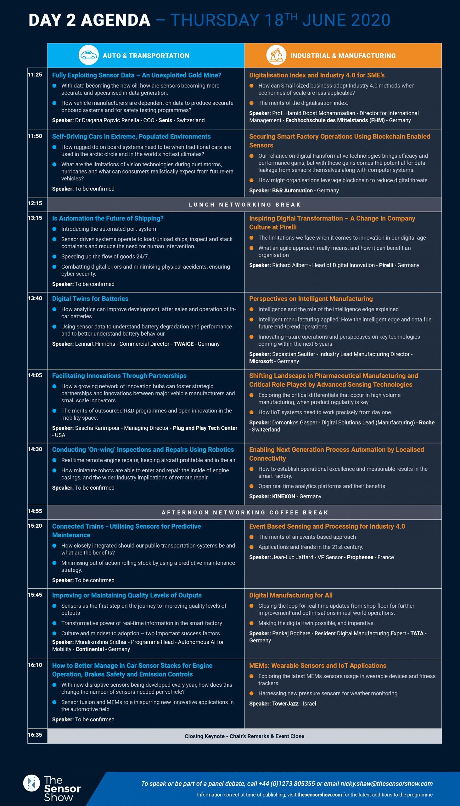 The Sensor Show Congress Munich - Agenda - 17.01.2020 - 3