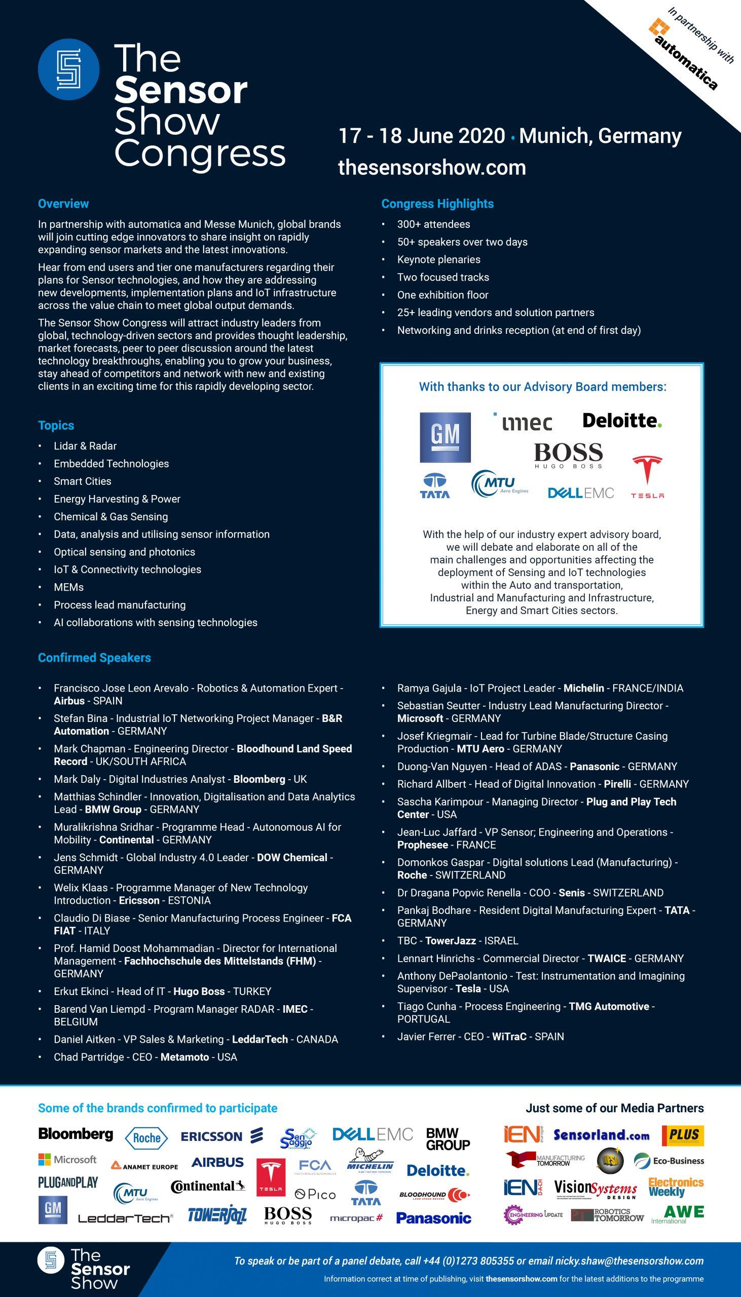The Sensor Show Congress Munich - Agenda - 17.01.2020 - 4