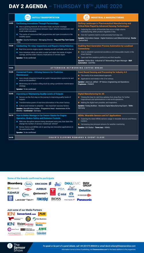 The Sensor Show Congress Munich - Agenda - Day 2 Page 2