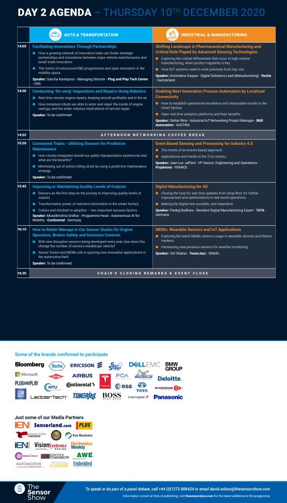 The Sensor Show Congress Munich - Agenda - 27.03.2020 - 5