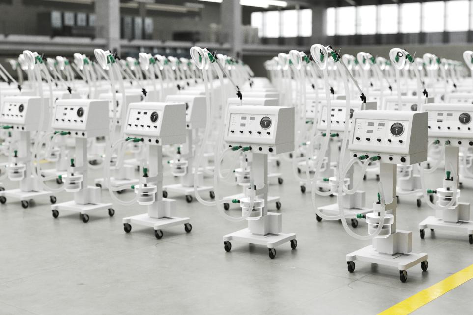 ventilators respirators coronavirus epidemic factory